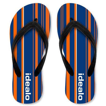 Sandalen mit Logodruck
