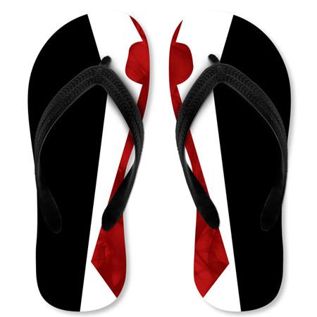 Sandalen im Anzug-Design