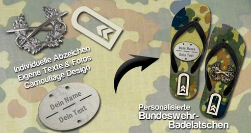 mit Logo bedruckten Badelatschen